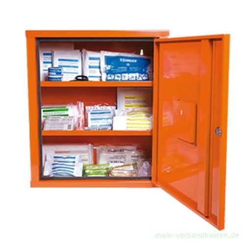 Verbandschrank EUROSAFE Industrie Norm DIN 13169, orange