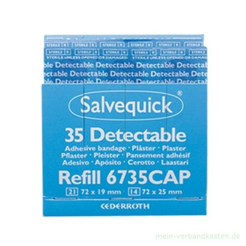 Salvequick Pflaster-Strips detectable, Ref. 6735
